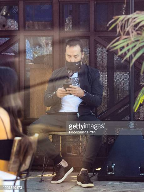 Jeremy Piven is seen on October 28 2020 in Los Angeles California
