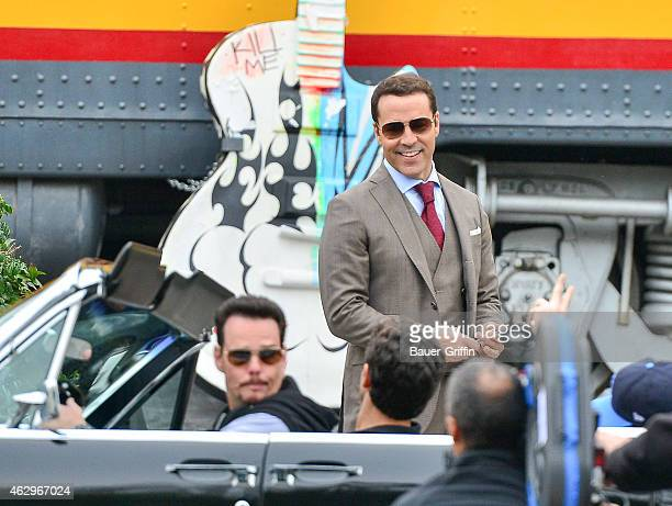 Jeremy Piven is seen on the set of 'Entourage' on February 07, 2015 in Los Angeles, California.