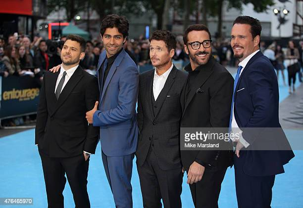 Jeremy Piven Jerry Ferrara Adrian Grenier Kevin Connolly and Kevin Dillon attend the European Premiere of 'Entourage' at Vue West End on June 9 2015...