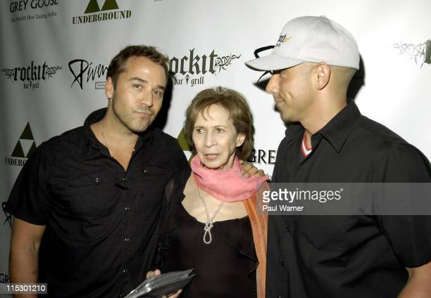 Jeremy Piven, Joyce Piven and Billy Dec attend the 2009 Piven Theatre Workshop Benefit at Rockit Bar & Grill on June 20, 2009 in Chicago, Illinois.