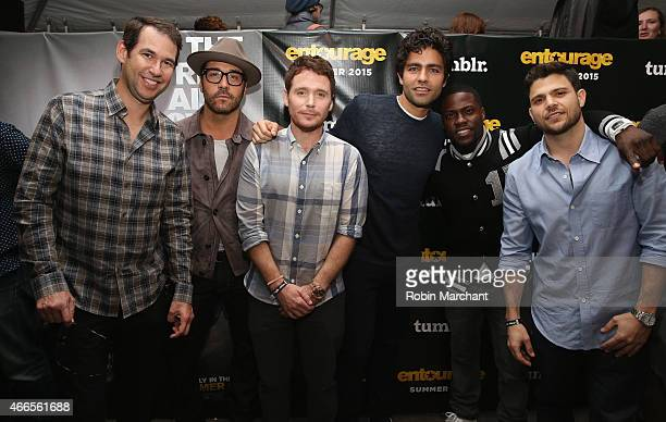 Jeremy Piven Kevin Connolly Adrian Grenier Kevin Hart and Jerry Ferrara attend Tumblr FUCK YEAH Party Sponsored By Entourage At SXSW on March 16 2015...