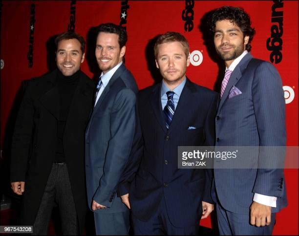 Jeremy Piven Kevin Dillon Kevin Connolly and Adrian Grenier arrive to HBO Presents The Fourth Season Premiere of 'Entourage' held at the Ziegfeld...