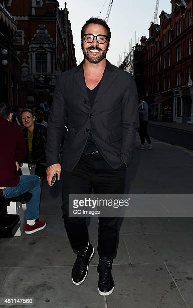 Jeremy Piven leaves The Chiltern Firehouse on July 17 2015 in London England
