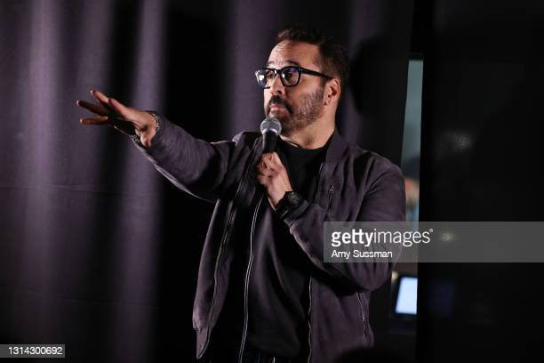 """Jeremy Piven performs at """"Shindig"""" standup comedy show benefitting Color Of Change hosted by Jimmy Shin at Black Star Burger on April 24, 2021 in Los..."""