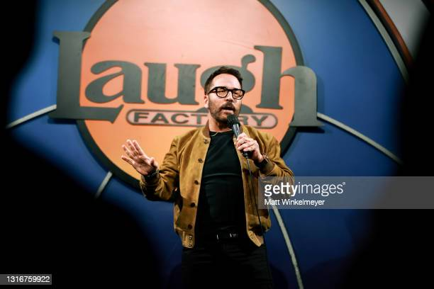 Jeremy Piven performs onstage during The Laugh Factory Hosts Grand Reopening Night at The Laugh Factory on May 06, 2021 in West Hollywood, California.