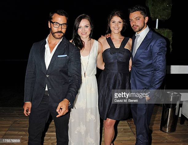 Jeremy Piven singer Amy Macdonald Gemma Arterton and Dominic Cooper attend day 2 of the Audi Polo Challenge at Coworth Park Polo Club on August 4...