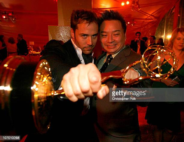 """Jeremy Piven, winner Outstanding Supporting Actor In A Comedy Series for """"Entourage"""", and Rex Lee"""