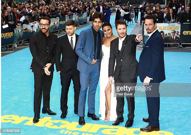Jeremy PivenJerry Ferrara Adrian Grenier Emmanuelle Chriqui Kevin Connolly and Kevin Dillon attend the 'Entourage' European Premiere at Vue West End...