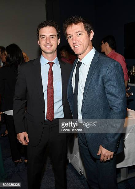 Jeremy Plager and guest attend The Hollywood Reporter celebration of LBJ at Lena at Saks Fifth Avenue during the Toronto International Film Festival...