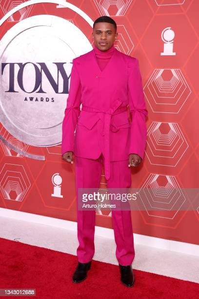 Jeremy Pope attends the 74th Annual Tony Awards at Winter Garden Theater on September 26, 2021 in New York City.