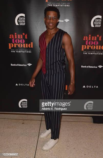 Jeremy Pope attends the after party for the Opening Night of Ain't Too Proud The Life And Times Of The Temptations at the Dorothy Chandler Pavillion...