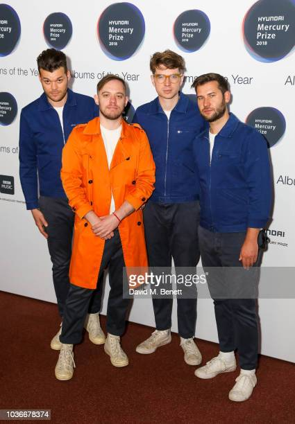 Jeremy Pritchard Jonathan Higgs Alex Robertshaw and Michael Spearman attend the Hyundai Mercury Prize 2018 at Eventim Apollo on September 20 2018 in...