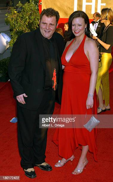 Jeremy Ratchford and wife Tori during The 30th Annual People's Choice Awards Arrivals at Pasadena Civic Auditorium in Pasadena California United...