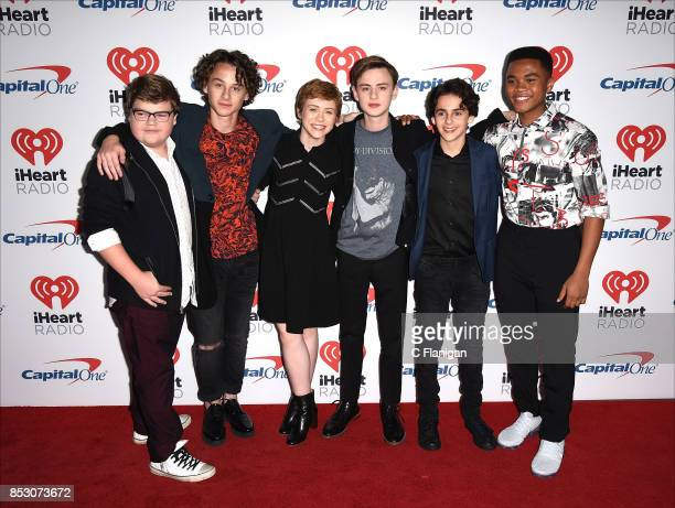 Jeremy Ray Taylor Wyatt Oleff Sophia Lillis Jaeden Lieberher Jack Dylan Grazer and Chosen Jacobs from the movie 'IT' attend the 2017 iHeartRadio...