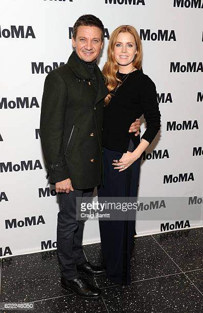 Jeremy Renner and Amy Adams attend MoMA's The Contenders screening of 'Arrival' at MOMA Celeste Bartos Theater on November 10 2016 in New York City