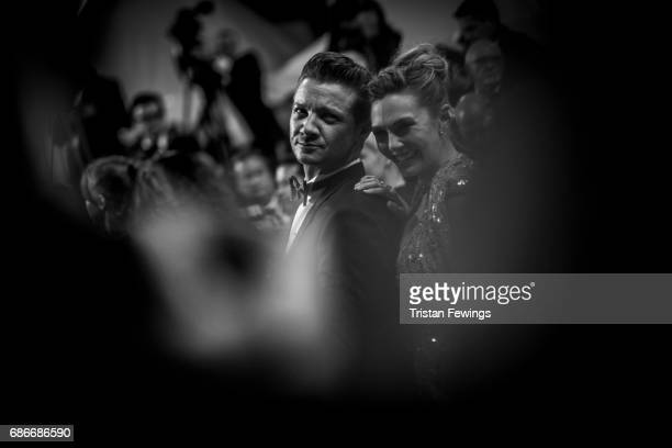 Jeremy Renner and Elizabeth Olsen attend the 'The Square' screening during the 70th annual Cannes Film Festival at on May 20 2017 in Cannes France