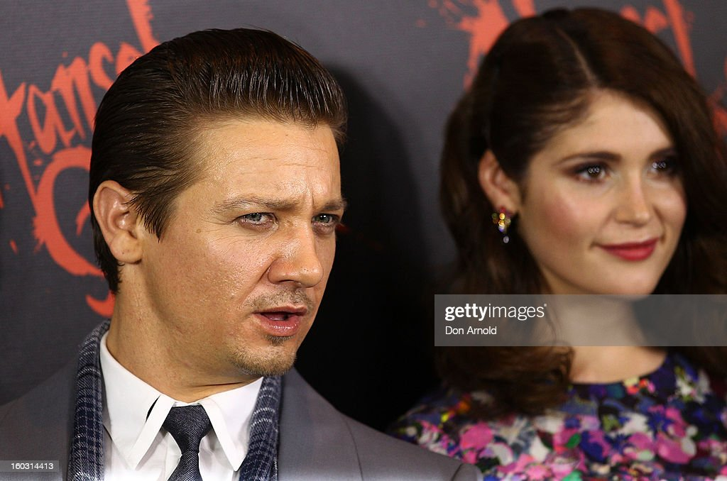Jeremy Renner and Gemma Arterton arrive at the Australian Premiere of 'Hansel & Gretel Witch Hunters' at Event Cinemas on January 29, 2013 in Sydney, Australia.