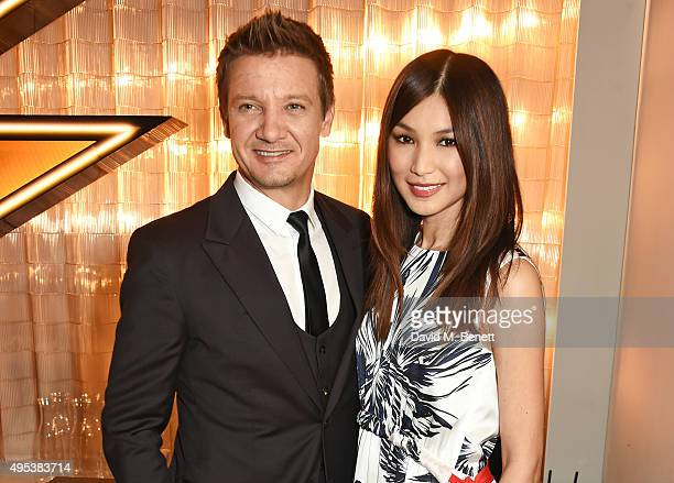 Jeremy Renner and Gemma Chan attend the launch of La Maison Remy Martin the cognac brand's new members club on November 2 2015 in London England