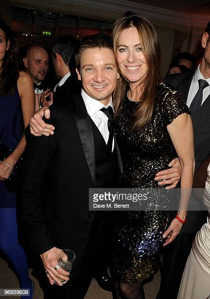 Jeremy Renner and Katherine Bigelow attend the BAFTA Soho House Grey Goose after party at the Grosvenor House Hotel on February 21 2010 in London...
