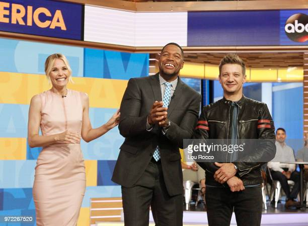 AMERICA Jeremy Renner and Leslie Bibb are guests on 'Good Morning America' on Tuesday June 12 2018 airing on the ABC Television Network LESLIE