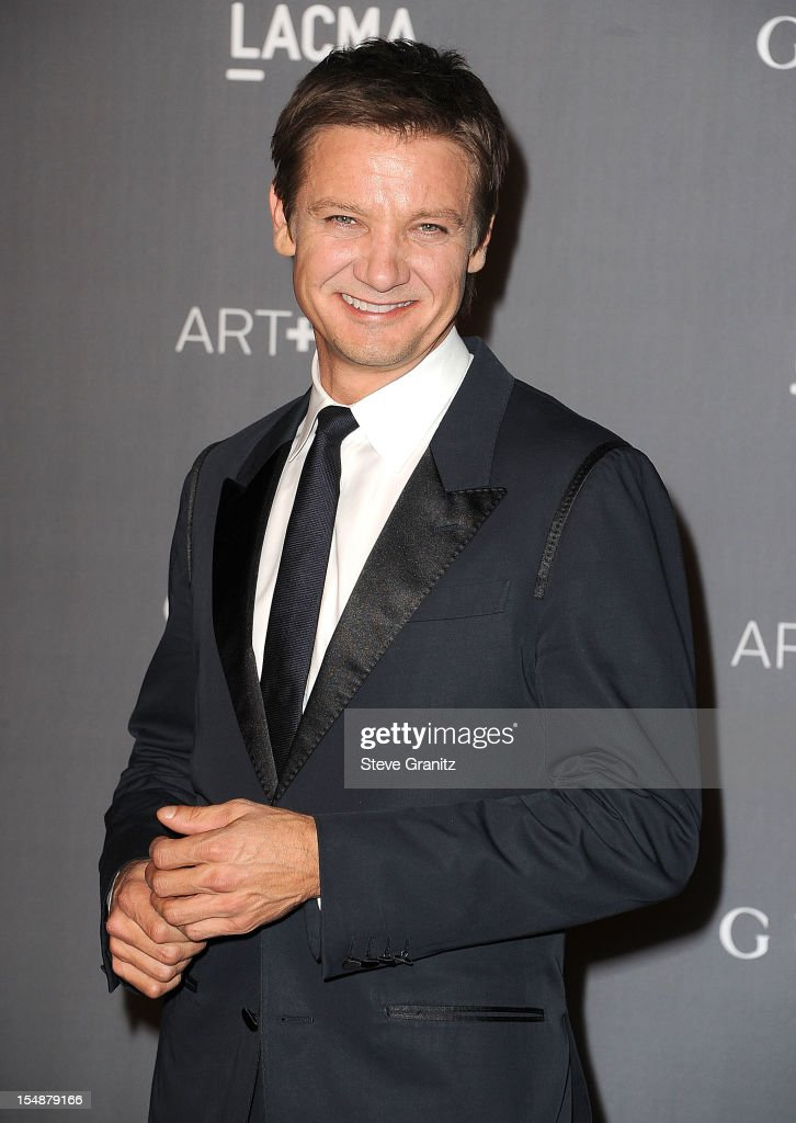 Jeremy Renner arrives at the LACMA Art + Gala at LACMA on October 27, 2012 in Los Angeles, California.
