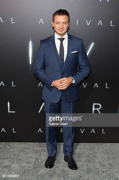 Jeremy Renner arrives for the Premiere Of Paramount Pictures' Arrival at Regency Village Theatre on November 6 2016 in Westwood California