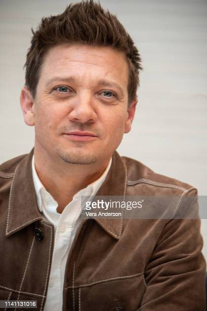 Jeremy Renner at the Avengers Endgame Press Conference at the InterContinental Hotel on April 07 2019 in Los Angeles California