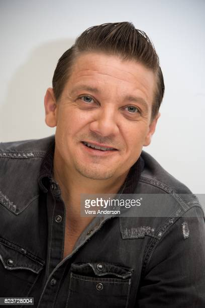 Jeremy Renner at the 'Wind River' Press Conference at the Four Seasons Hotel on July 26 2017 in Beverly Hills California