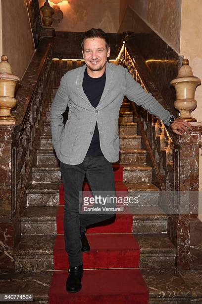 Jeremy Renner attends 62 Taormina Film Fest Day 6 on June 16 2016 in Taormina Italy