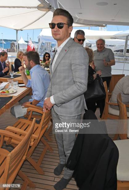 Jeremy Renner attends a lunch hosted by Lexus for The Weinstein Company's 'Wind River' stars and director on May 20 2017 in Cannes France