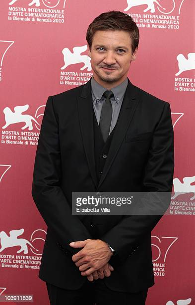 Jeremy Renner attends a photocall for 'The Town' during the 67th Venice Film Festival at the Palazzo del Casino on September 8 2010 in Venice Italy