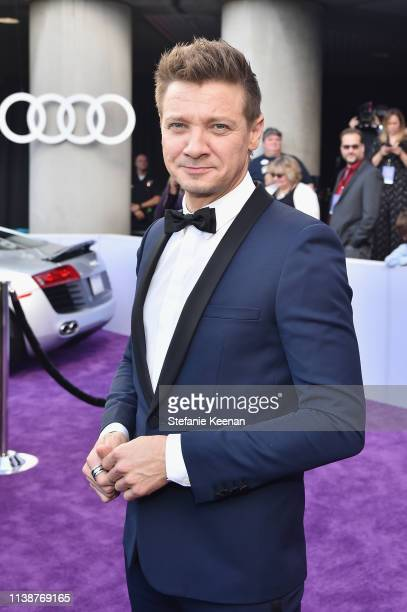 Jeremy Renner attends Audi Arrives At The World Premiere Of Avengers Endgame on April 22 2019 in Hollywood California