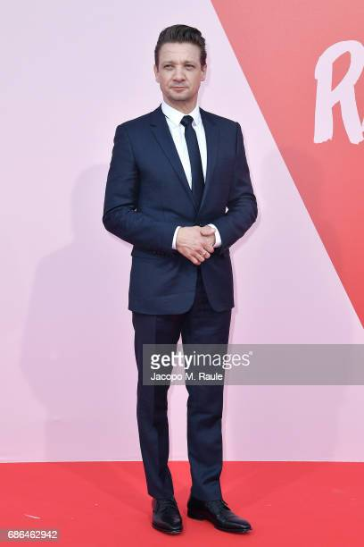 Jeremy Renner attends Fashion For Relief during the 70th annual Cannes Film Festival at Aeroport Cannes Mandelieu on May 21 2017 in Cannes France