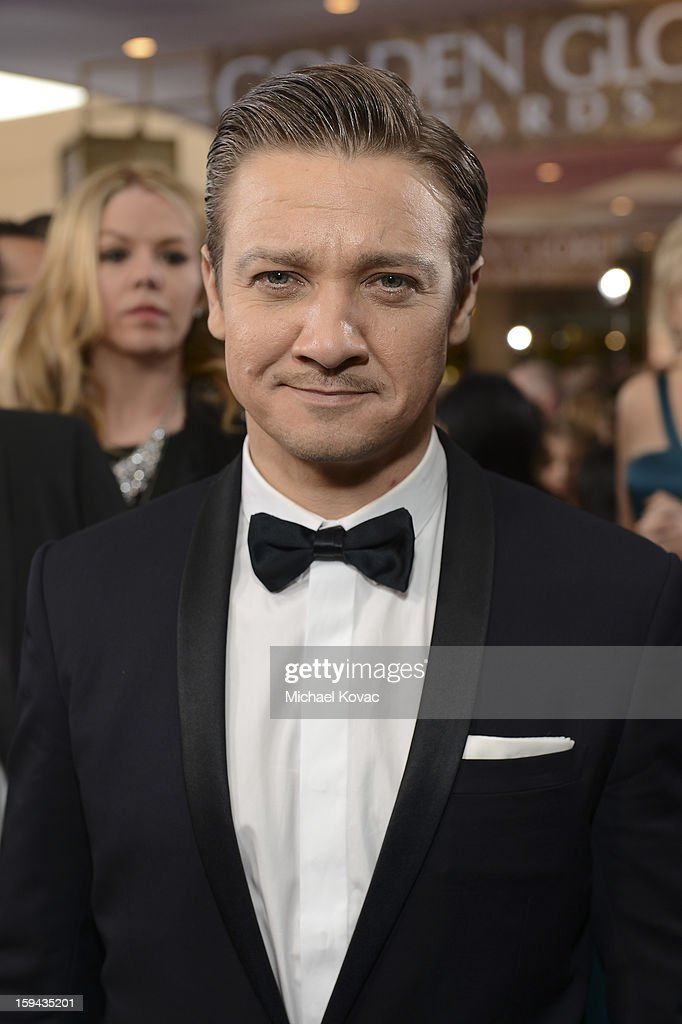 Jeremy Renner attends Moet & Chandon At The 70th Annual Golden Globe Awards Red Carpet at The Beverly Hilton Hotel on January 13, 2013 in Beverly Hills, California.