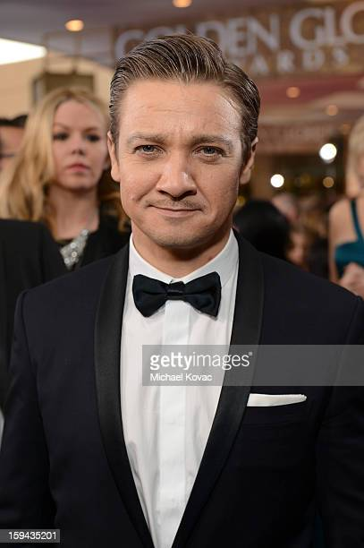 Jeremy Renner attends Moet Chandon At The 70th Annual Golden Globe Awards Red Carpet at The Beverly Hilton Hotel on January 13 2013 in Beverly Hills...
