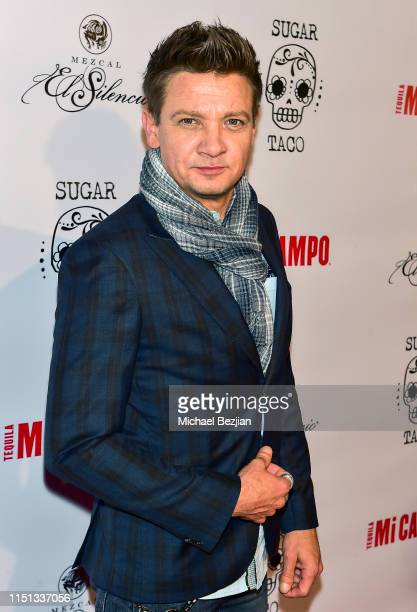 Jeremy Renner attends Sugar Taco Vegan Mexican Restaurant Celebrity Launch Party on May 23 2019 in Los Angeles California