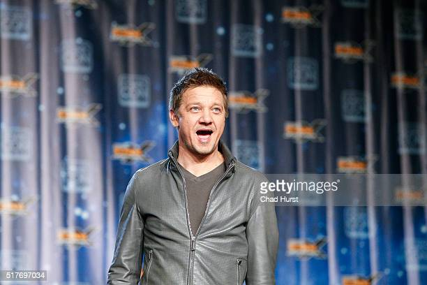 Jeremy Renner attends the 2016 Salt Lake Comic Con Fan Xperience at Salt Palace Convention Center on March 26 2016 in Salt Lake City Utah