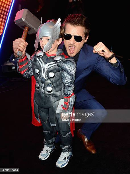 Jeremy Renner attends The Avengers Age Of Ultron European premiere at Westfield London on April 21 2015 in London England