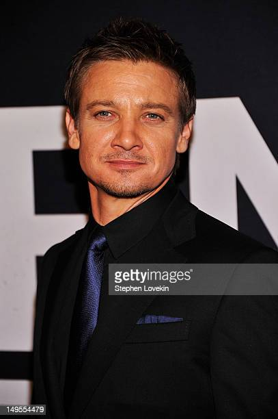 """Jeremy Renner attends """"The Bourne Legacy"""" New York Premiere at Ziegfeld Theater on July 30, 2012 in New York City."""