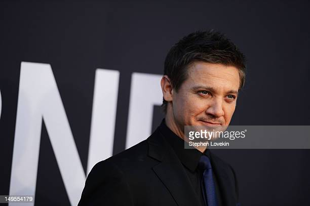 """Jeremy Renner attends """"The Bourne Legacy"""" premiere at the Ziegfeld Theater on July 30, 2012 in New York City."""