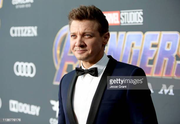 Jeremy Renner attends the Los Angeles World Premiere of Marvel Studios' Avengers Endgame at the Los Angeles Convention Center on April 23 2019 in Los...