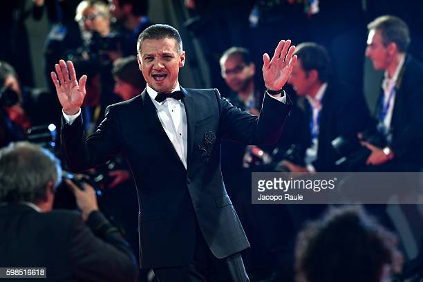 Jeremy Renner attends the premiere of 'Arrival' during the 73rd Venice Film Festival at Sala Grande on September 1, 2016 in Venice, Italy.
