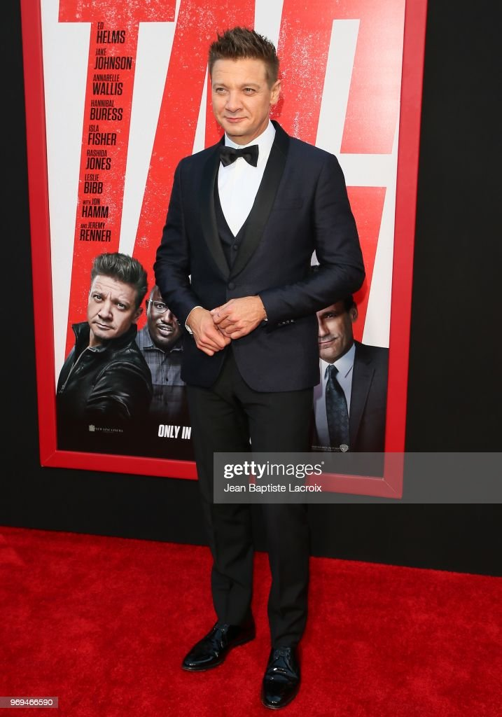 Jeremy Renner attends the premiere of Warner Bros. Pictures and New Line Cinema's 'Tag' on June 07, 2018 in Los Angeles, California.
