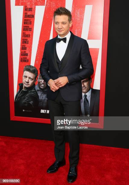 Jeremy Renner attends the premiere of Warner Bros Pictures and New Line Cinema's 'Tag' on June 07 2018 in Los Angeles California