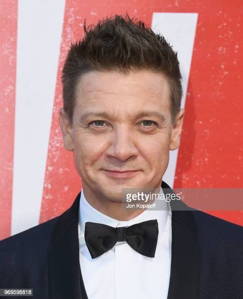 Jeremy Renner attends the premiere of Warner Bros Pictures And New Line Cinema's 'Tag' at Regency Village Theatre on June 7 2018 in Westwood...