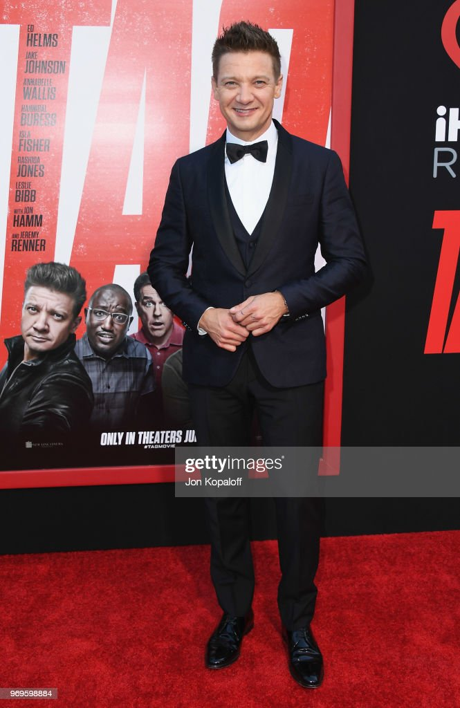 Jeremy Renner attends the premiere of Warner Bros. Pictures And New Line Cinema's 'Tag' at Regency Village Theatre on June 7, 2018 in Westwood, California.