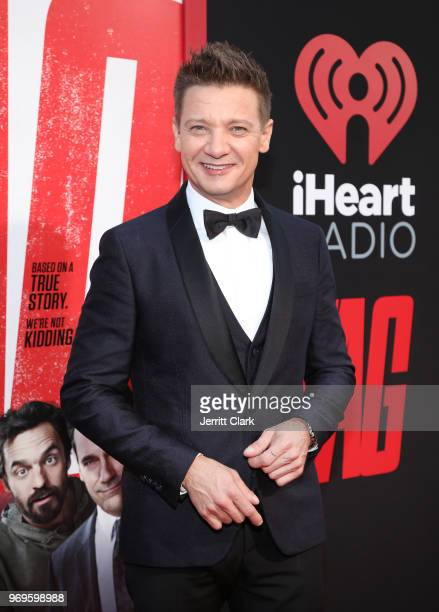 Jeremy Renner attends the Premiere Of Warner Bros Pictures And New Line Cinema's Tag at Regency Village Theatre on June 7 2018 in Westwood California