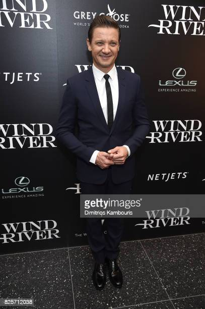 Jeremy Renner attends the Screening Of 'Wind River' at The Museum of Modern Art on August 2 2017 in New York City