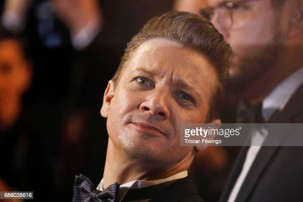 Jeremy Renner attends the The Square screening during the 70th annual Cannes Film Festival at Palais des Festivals on May 20 2017 in Cannes France