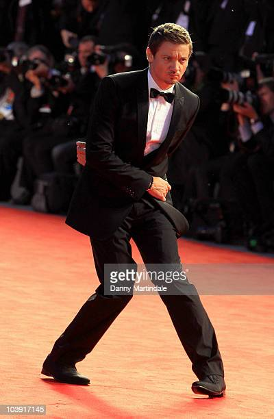 Jeremy Renner attends the The Town premiere at the Palazzo del Cinema during the 67th Venice International Film Festival on September 8 2010 in...